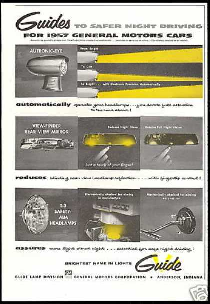GM Car Guide Autronic Eye Mirror Lights (1957)