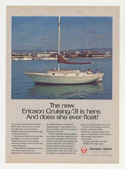 Ericson Cruising 31 Yacht Boat Photo (1977)