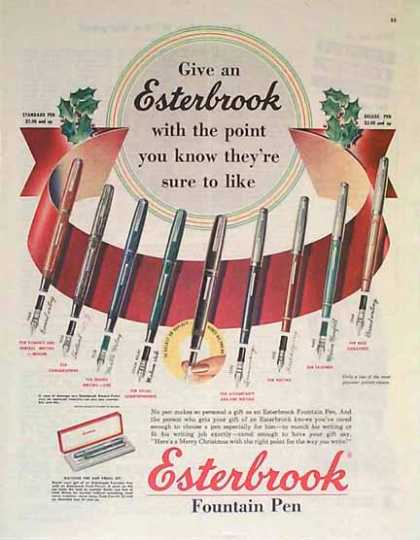 Esterbrook Pen – Christmas with the right p (1949)