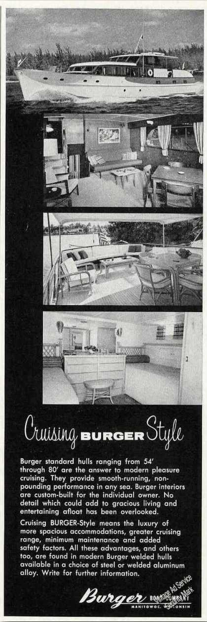 Cruising Burger Style Boat Photos (1958)