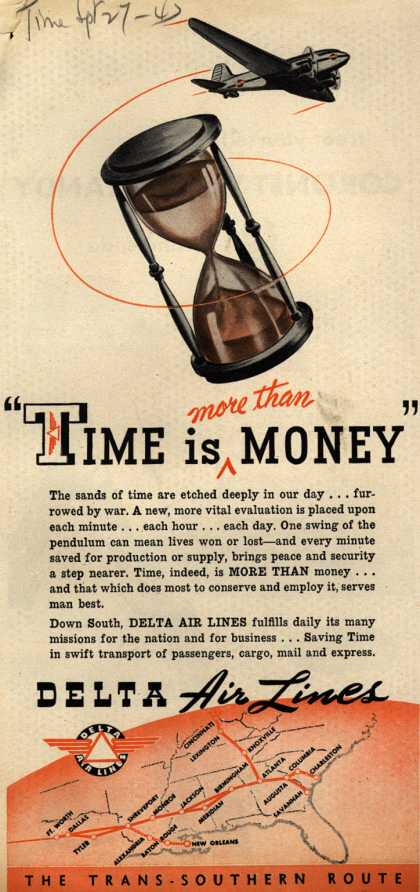 "Delta Airlines – ""Time is more than Money"" (1947)"