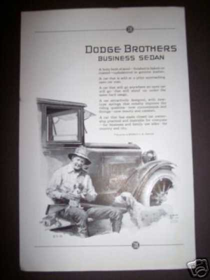 Original Dodge Brothers Hunting Dog Car Ad Art (1923)