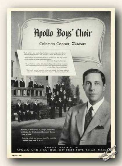Coleman Cooper/apollo Boys' Choir Photos (1948)