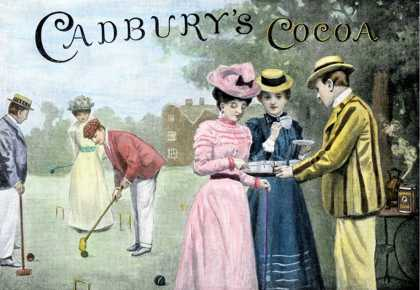 for Cadbury's Cocoa, Showing a Croquet Game (1899)