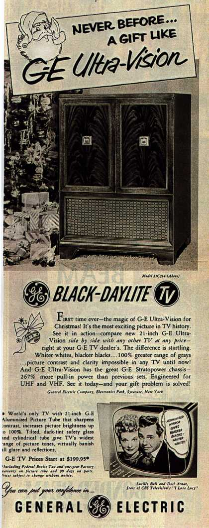 General Electric Company's Television – Never Before... A Gift Like G-E Ultra-Vision (1952)