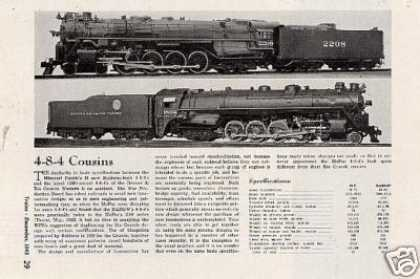 "Magazine Photo/""4-8-4 Cousins"" Mopac/d&rgw (1943)"
