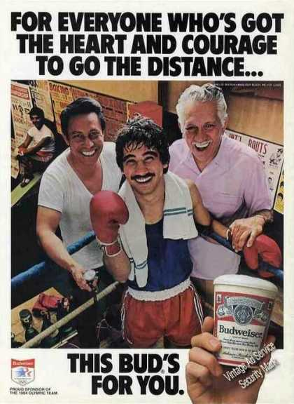 "Budweiser ""Heart & Courage To Go the Distance"" (1982)"