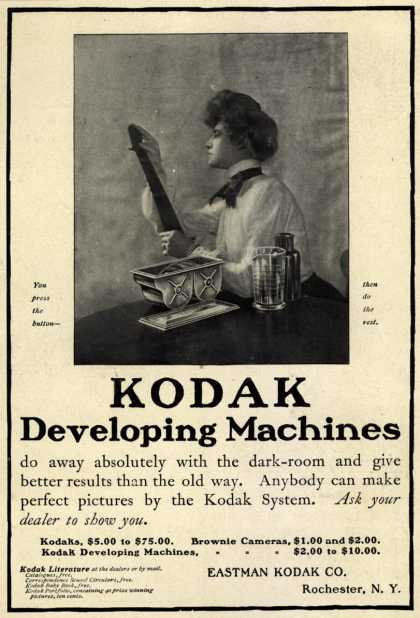 Kodak – Kodak Developing Machines (1902)