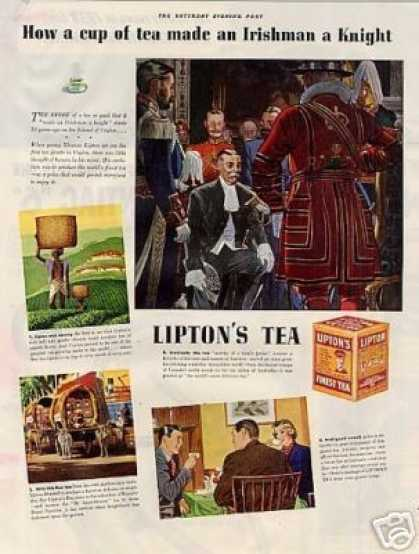 "Lipton's Tea Color Ad ""How a Cup of Tea... (1938)"