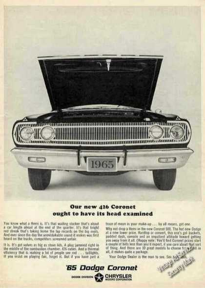 "Dodge Coronet 426 ""Ought To Have Head Examined"" (1965)"