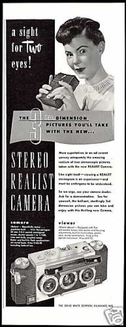 Stereo Realist Camera David White Co (1947)