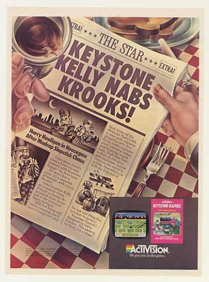 Activision Keystone Kapers Video Game (1983)