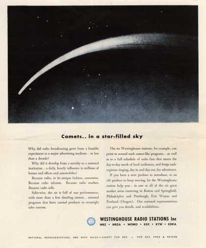 Westinghouse Radio Station's Radio Stations – Comets... in a star-filled sky (1948)