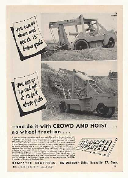 Dempster Diggster Excavator Photo (1952)