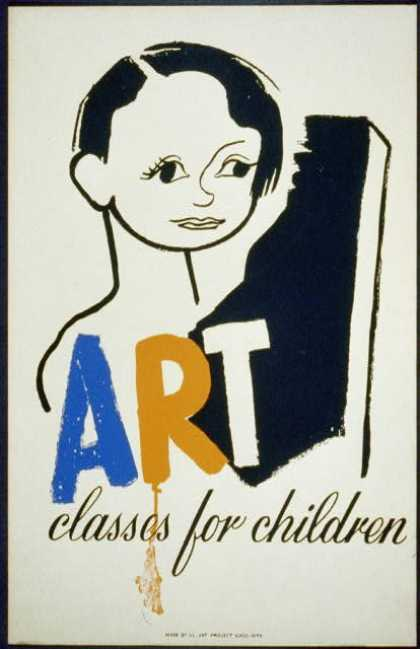 Art classes for children. (1940)