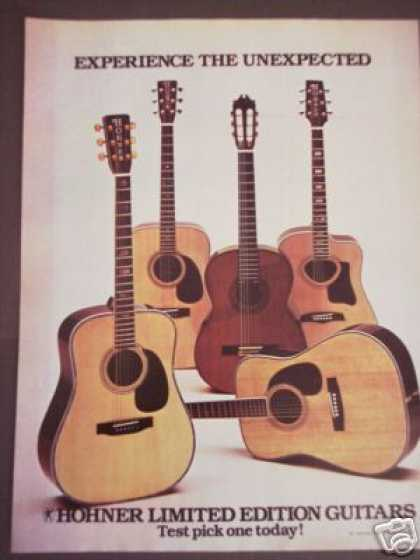 Hohner Limited Ed Guitar 5 Models Photo (1976)