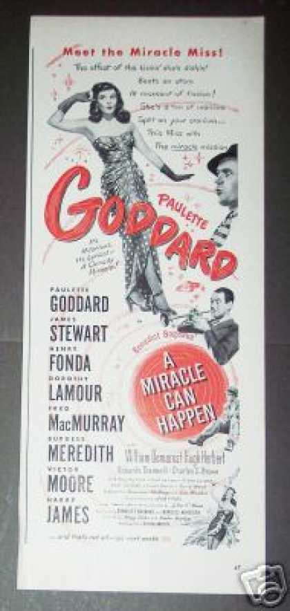 P Goddard In a Miracle Can Happen Movie Promo (1947)