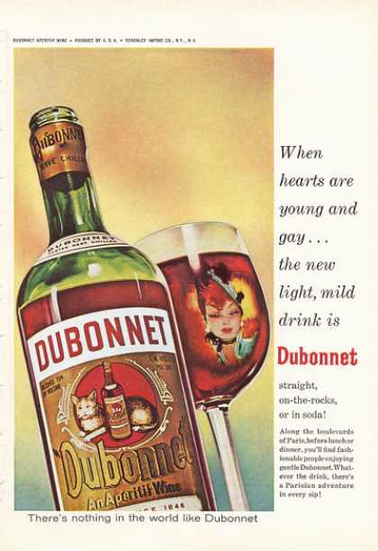 Dubonnet Aperitif Wine Bottle (1966)