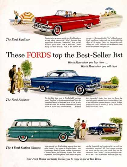 Ford Sunliner, Skyliner, Wagon (1954)