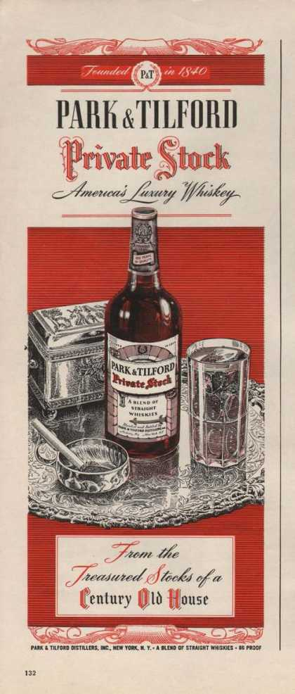 Park & Tilford Private Stock Whiskey (1946)