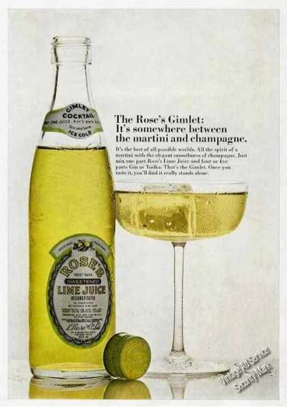 The Rose's Gimlet Between Martini & Champagne (1970)