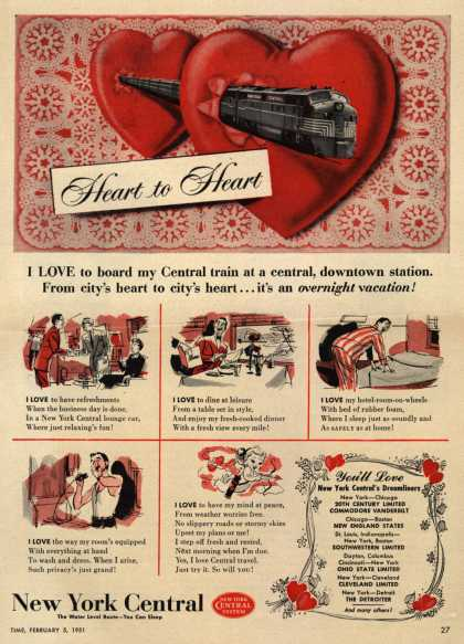 New York Central System – Heart to Heart (1951)