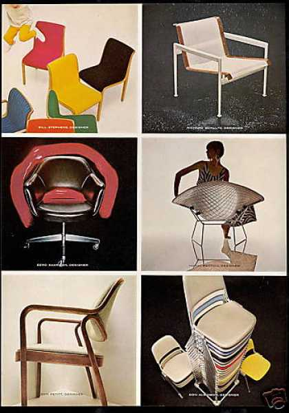 Knoll Furniture 11 Chair Styles 2 Page (1968)