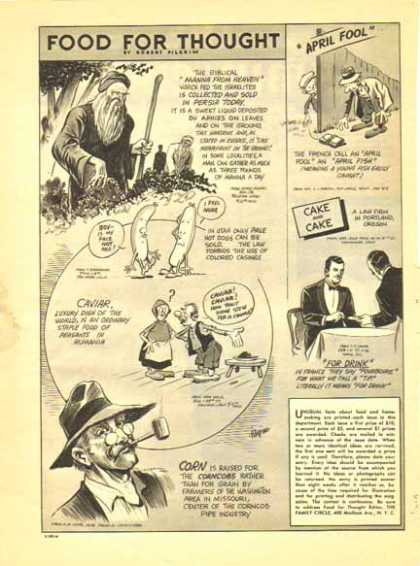 Food For Thought Comic – Robert Pilgrim (1941)