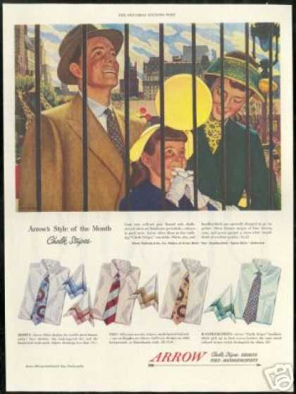John Falter Art Arrow Shirt Vintage Fashion (1949)