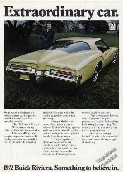 "Buick Riviera ""Extraordinary Car"" Collectible (1972)"