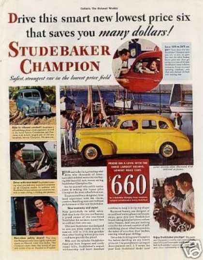 Studebaker Champion Cruising Sedan Color (1939)