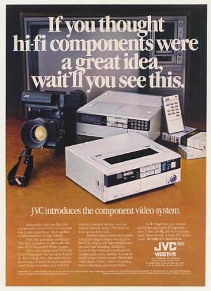 JVC Component Video System VCR Camera (1982)
