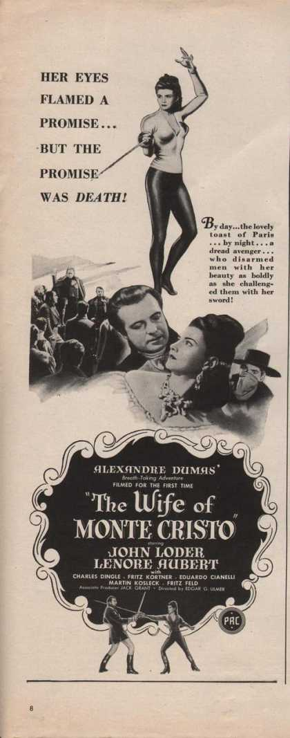 Movie Ad the Wife of Monte Cristo John Lod (1942)