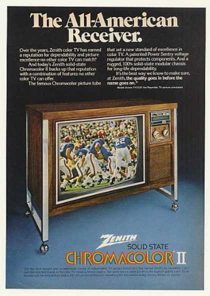 Zenith Chromacolor II F4752P Reynolds Color TV (1974)