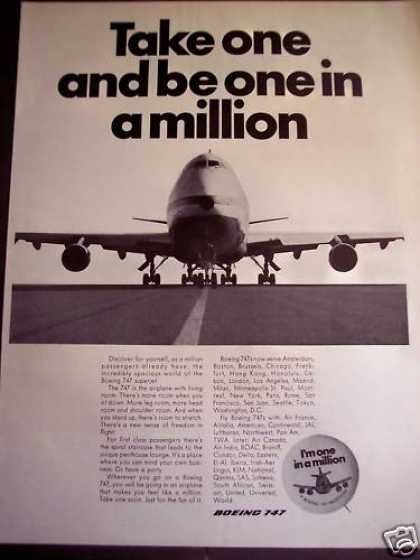 Boeing 747 Airplane Aircraft Plane (1970)