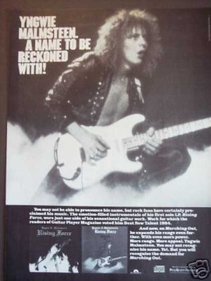 Yngwie Malmsteen Photo Record Album Promo (1985)