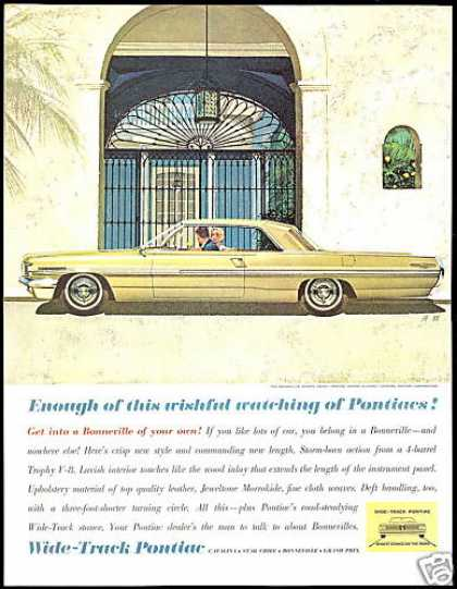 Pontiac 2dr Bonneville Sports Coupe AF VK Art (1962)