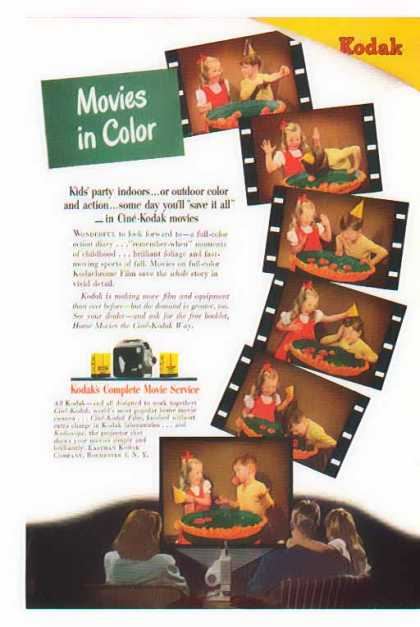 Kodak Camera – Cine-Kodak – Movies in Color (1947)