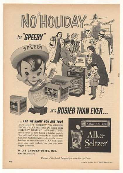 Alka-Seltzer Speedy Character Holiday Trade (1956)