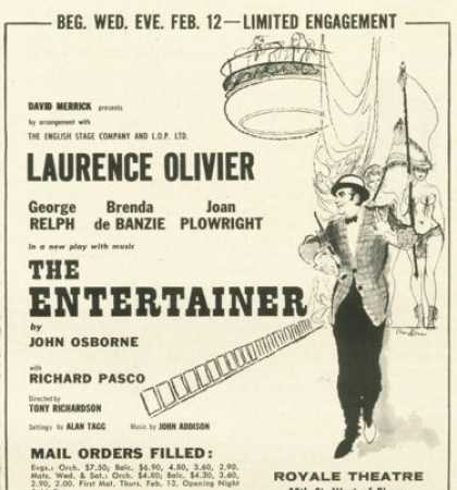 The Entertainer Theatre Laurence Olivier (1958)