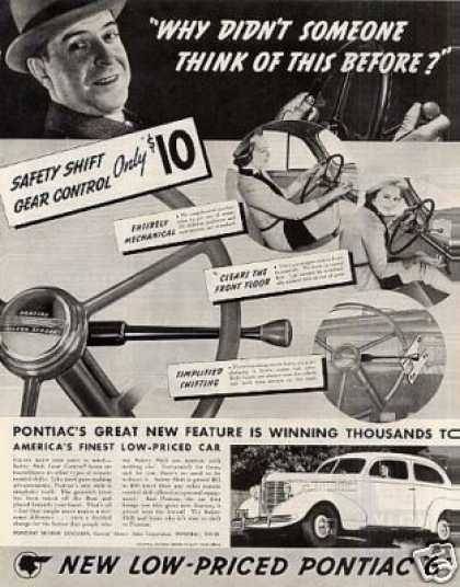 "Pontiac Six Car Ad ""Why Didn't Someone... (1938)"