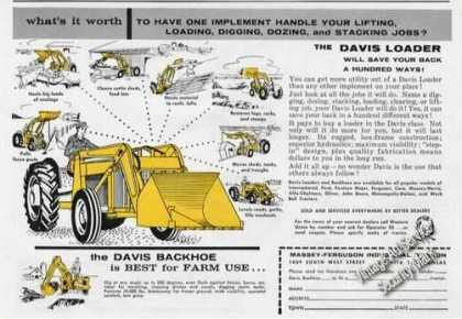 Davis Loader/backhoe for Farm Use Rare (1958)