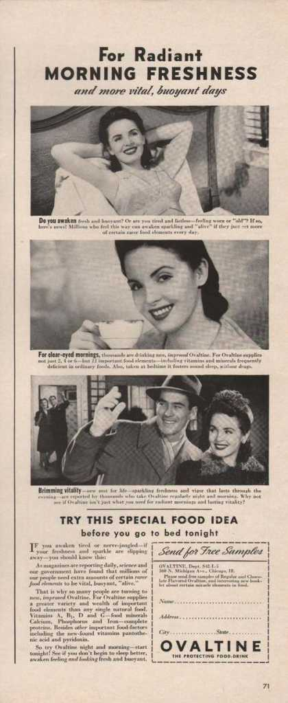 Try This Special Food Idea Ovaltine Print (1942)