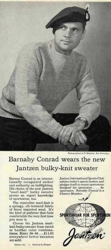 Barnaby Conrad Photo Jantzen Sweaters (1957)