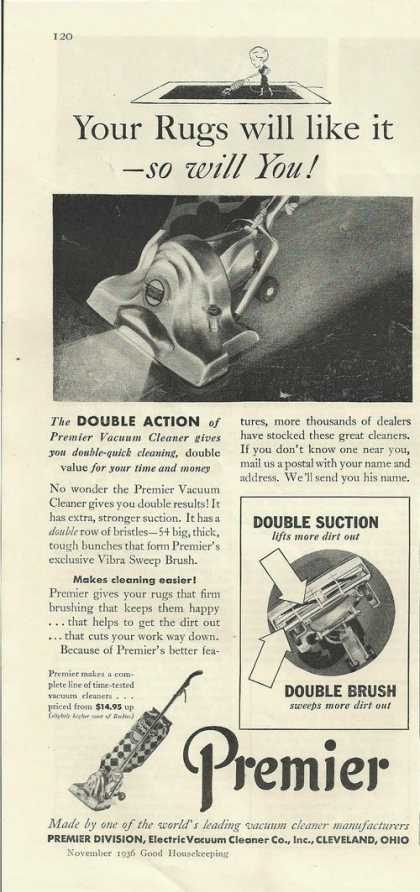 Premier Double Brush Vacuum Cleaner (1936)