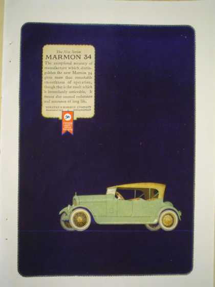 Marmon 34 automobile AND Deltah Perles L Heller and Sons (1920)