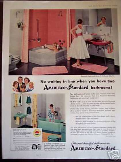 Retro Pink Bathroom Decor American Standard (1956)