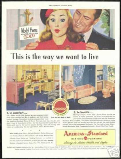 Model Home American Standard Heating Plumbing (1947)