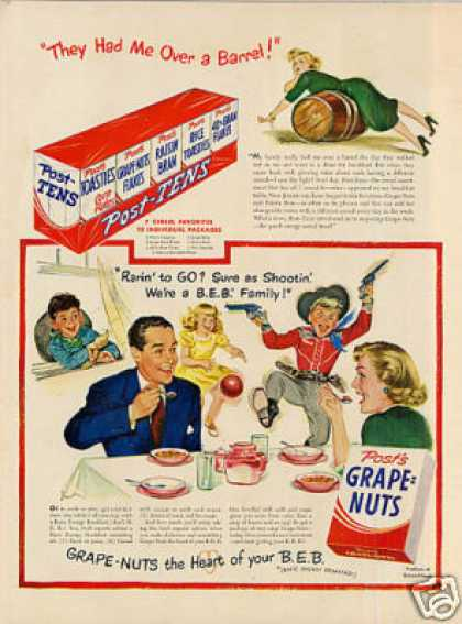 Post's Grape-nuts Cereal (1949)