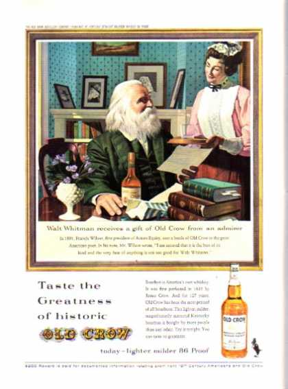 Old Crow Whiskey Walt Whitman (1962)